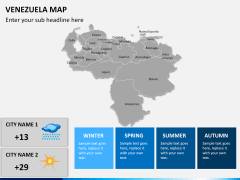 Venezuela map PPT slide 15