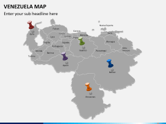 Venezuela map PPT slide 3