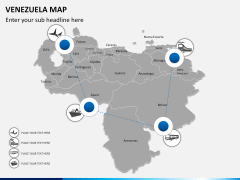 Venezuela map PPT slide 5