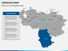 Venezuela map PPT slide 7