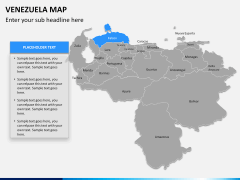 Venezuela map PPT slide 8