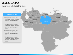Venezuela map PPT slide 9