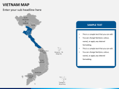 Vietnam map PPT slide 11