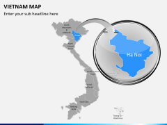 Vietnam map PPT slide 12