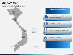 Vietnam map PPT slide 14