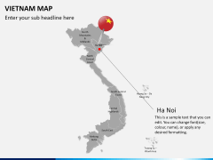 Vietnam map PPT slide 16