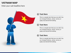 Vietnam map PPT slide 20