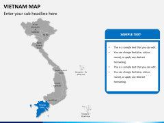 Vietnam map PPT slide 9