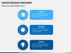 Vision mission statement PPT slide 1