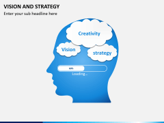 Vision and strategy PPT slide 1