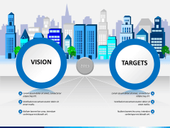 Vision and targets PPT slide 1