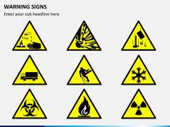 Warning signs PPT slide 1