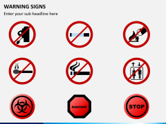 Warning signs PPT slide 2