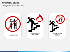 Warning signs PPT slide 3