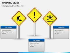 Warning signs PPT slide 5