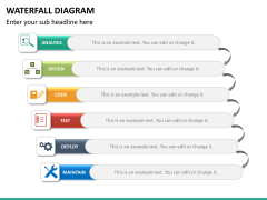 Waterfall diagram PPT slide 14
