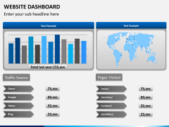 Website dashboard PPT slide 1