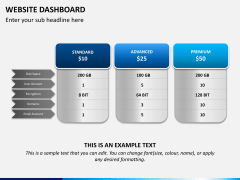 Website dashboard PPT slide 3