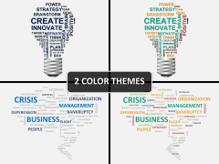 Word cloud PPT cover slide