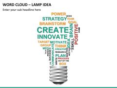 Word cloud PPT slide 23