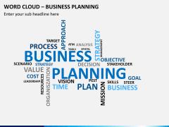 Word cloud PPT slide 14
