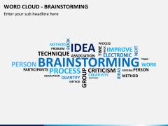 Word cloud PPT slide 15