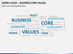 Word cloud PPT slide 16