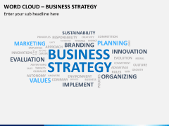Word cloud PPT slide 4
