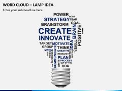 Word cloud PPT slide 7