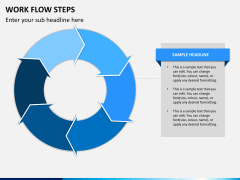 Work flow steps PPT slide 8