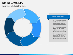 Work flow steps PPT slide 9
