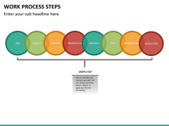 Work process steps PPT slide 13