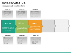 Work process steps PPT slide 16