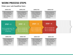 Work process steps PPT slide 17