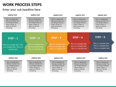 Work process steps PPT slide 18