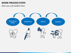 Work process steps PPT slide 1