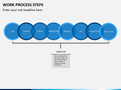 Work process steps PPT slide 4