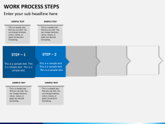 Work process steps PPT slide 6