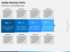 Work process steps PPT slide 8