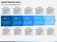Work process steps PPT slide 9