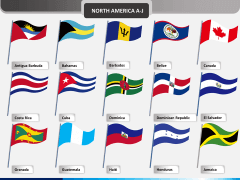 World flags PPT slide 14