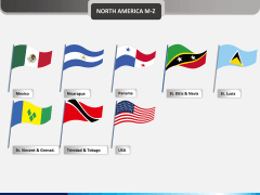 World flags PPT slide 15