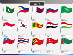 World flags PPT slide 7