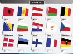 World flags PPT slide 9