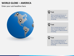 World globe with countries PPT slide 2