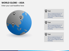 World globe with countries PPT slide 3