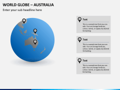 World globe with countries PPT slide 4
