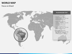 World map PPT slide 10