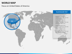 World map PPT slide 12