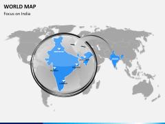 World map PPT slide 16
